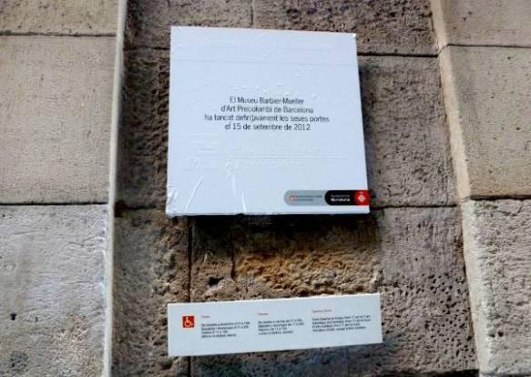 Anunci de tancament del museu