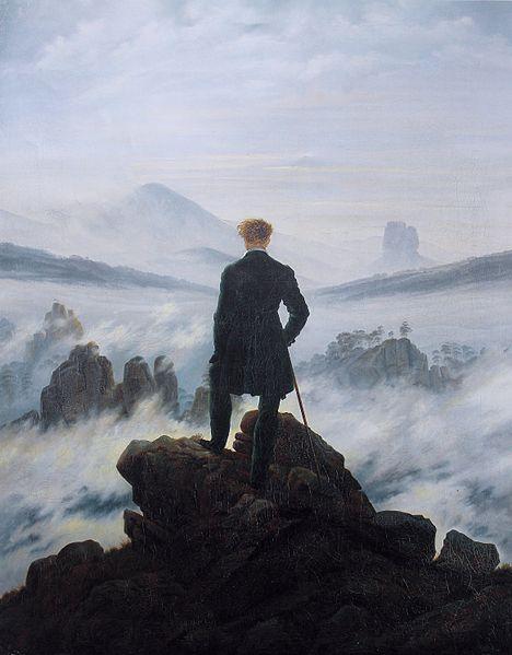 'Caminant damunt d'un mar de boira' de Friedrich