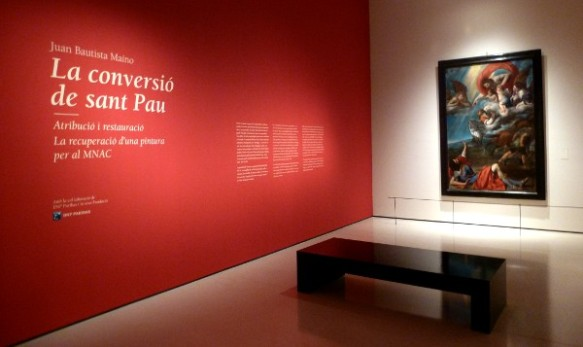 Sala dedicada a la restauració de 'La conversió de sant Pau'