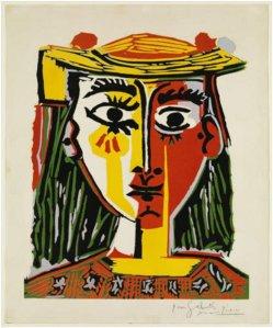 Cap de dona amb barret amb borles (MPB-70.269)