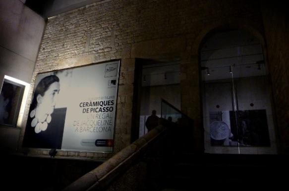Entrada a l'exposició temporal del Museu Picasso