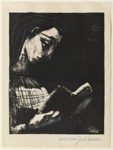 Jacqueline llegint (MPB-70.275)