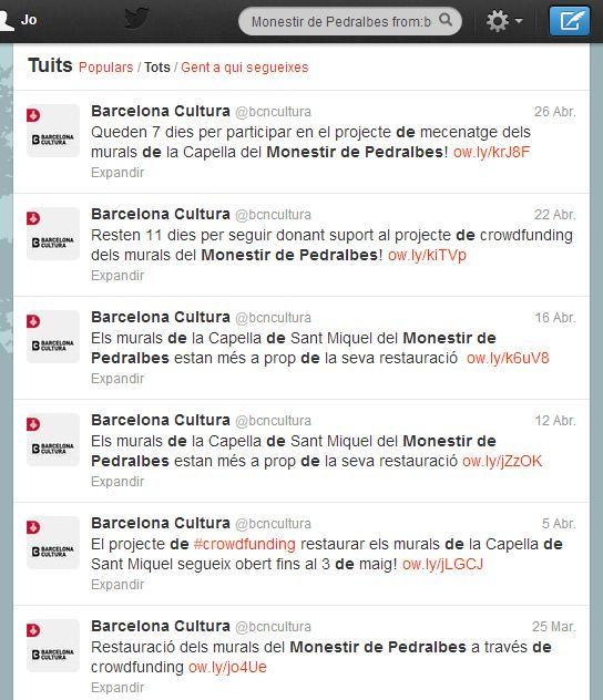 Captura tuits Barcelona Cultura