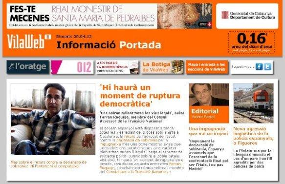 Captura Vilaweb Pedralbes